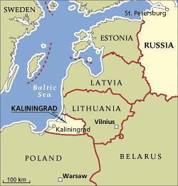 Mapa lokalizacji Kaliningradu